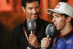 Mark Webber, Channel 4 F1, interroge Pierre Gasly, Toro Rosso