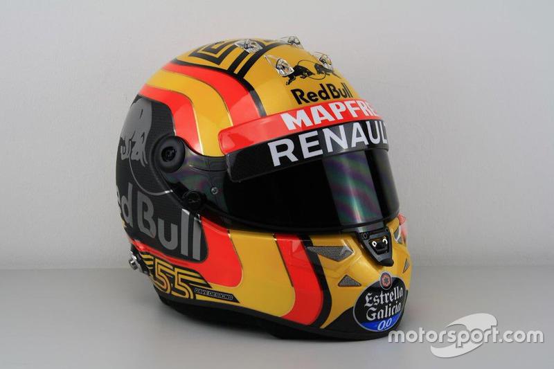 Casque de Carlos Sainz Jr., Renault Sport F1 Team