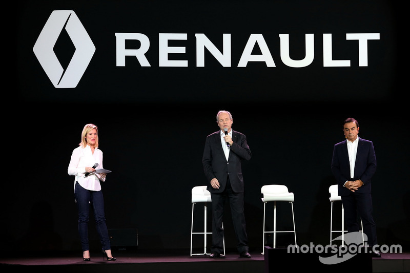 Jerome Stoll, Renault Sport F1 team president and Carlos Ghosn, Renault President