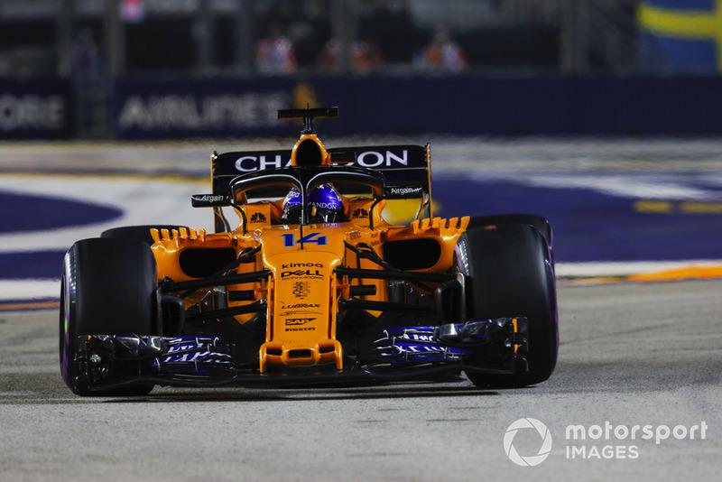 Гран При Сингапура: последняя победа в карьере Алонсо и грубиян Перес