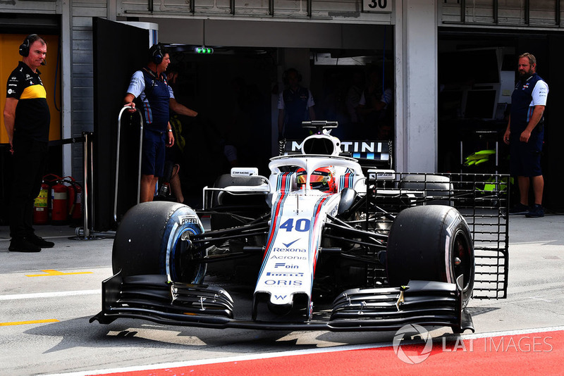 Robert Kubica, Williams FW41 aero sensörü ile