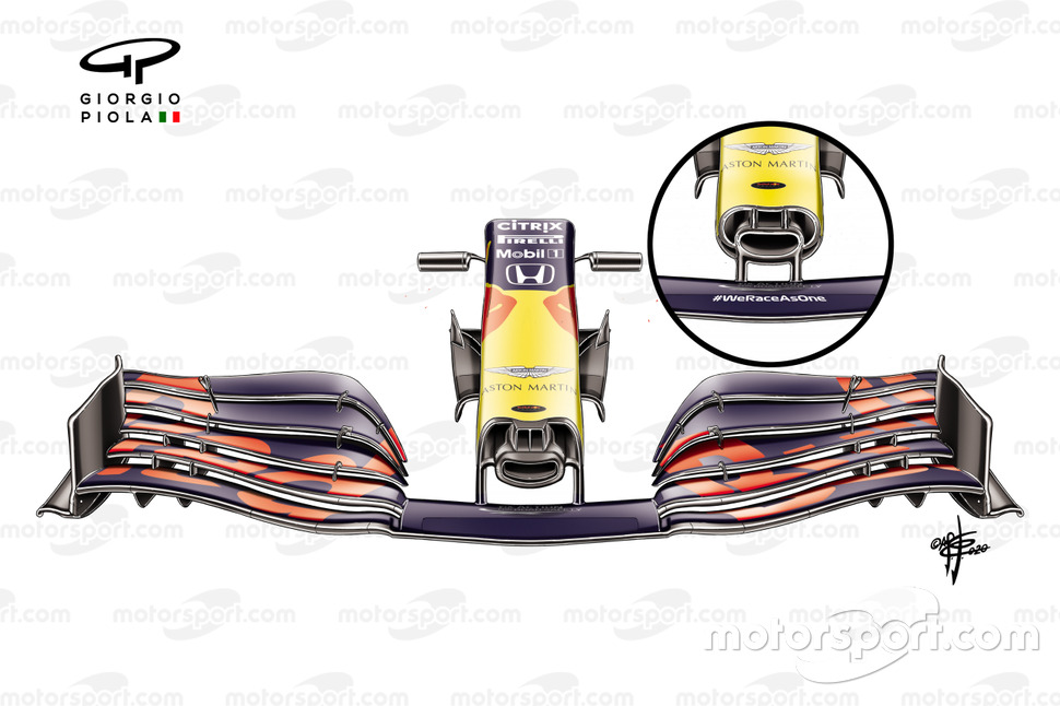 Ala delantera del Red Bull Racing RB16