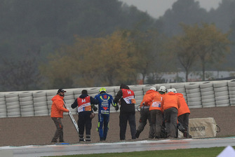Andrea Iannone, Team Suzuki MotoGP after crash