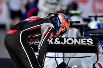 Romain Grosjean, Haas F1 Team in parc ferme