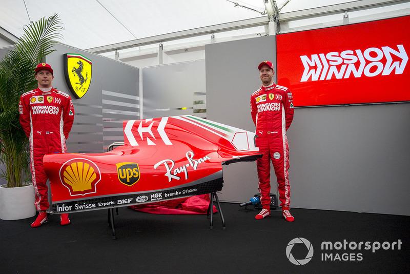 Sebastian Vettel, Kimi Raikkonen, Ferrari, svelano la livrea Mission Winnow