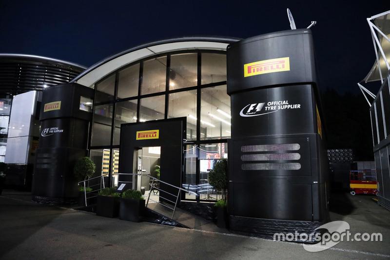 Pirelli motorhome at night