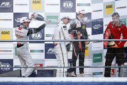 Podium: Race winner Lance Stroll, Prema Powerteam Dallara F312 - Mercedes-Benz; second place Joel Eriksson, Motopark Dallara F312 - Volkswagen; third Callum Ilott, Van Amersfoort Racing Dallara F312 - Mercedes-Benz.