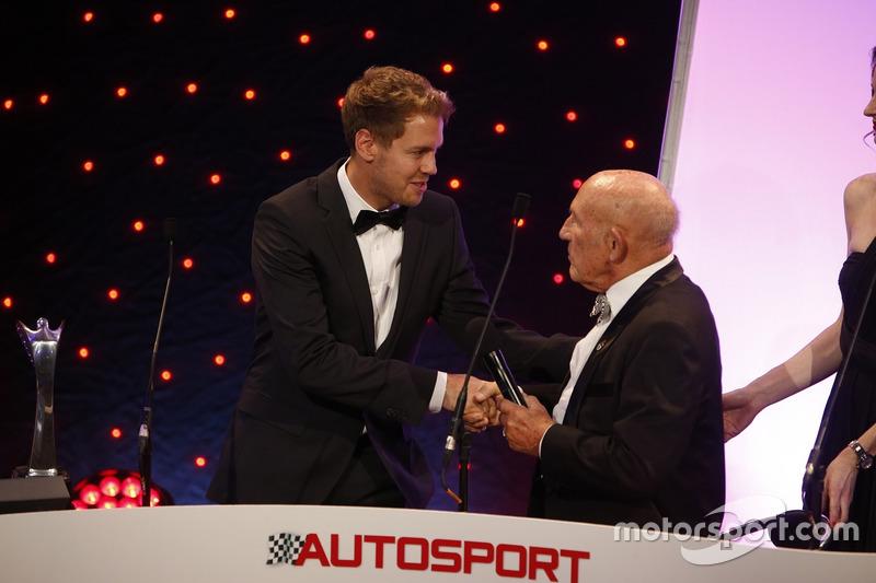 Sebastian Vettel und Sir Stirling Moss bei den Autosport Awards