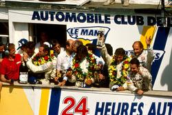 Podium: Winners Jochen Mass,  Manuel Reuter, Stanley Dickens, Sauber Mercedes, second place Mauro Baldi, Kenny Acheson, Gianfranco Brancatelli, Sauber Mercedes, third place Bob Wollek, Hans-Joachim Stuck, Joest Racing