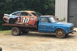 Danica Patrick's crashed car taken to Dale Earnhardt Jr.'s race car graveyard