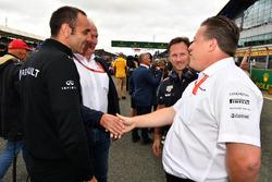 Cyril Abiteboul, Renault Sport F1 Managing Director, Dr Helmut Marko, Red Bull Motorsport Consultant, Christian Horner, Red Bull Racing Team Principal and Zak Brown, McLaren Executive Director