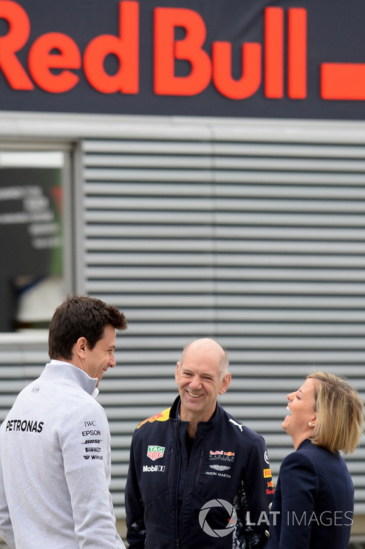 tot, Adrian Newey, Red Bull Racing and Susie Wolff