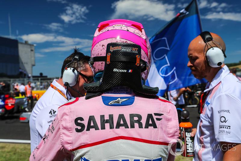 Esteban Ocon, Force India F1 en la parrilla