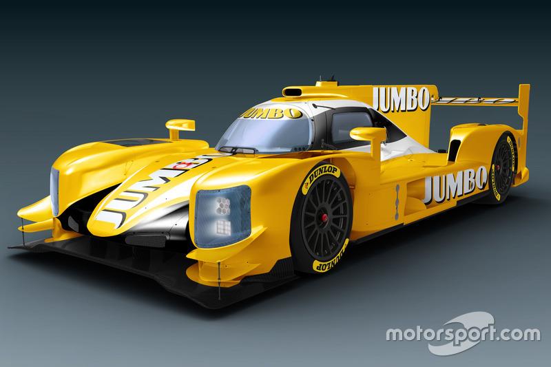 Dallara LMP2 van Racing Team Nederland in de kleuren van Jumbo