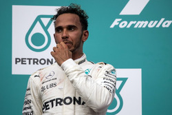 Lewis Hamilton, Mercedes AMG F1 celebrates on the podium