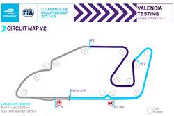Layout Circuit Ricardo Tormo dengan satu chicane