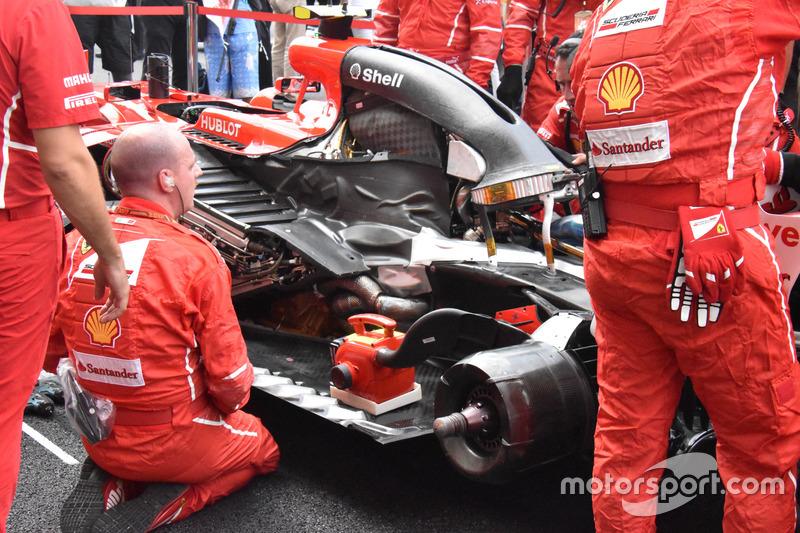 Motor van Kimi Raikkonen, Ferrari SF70H