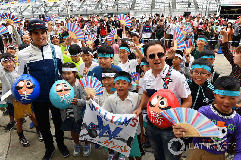 Lance Stroll, Williams and Felipe Massa, Williams, young Williams fans