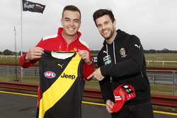 Trent Cotchin and Scott McLaughlin, DJR Team Penske