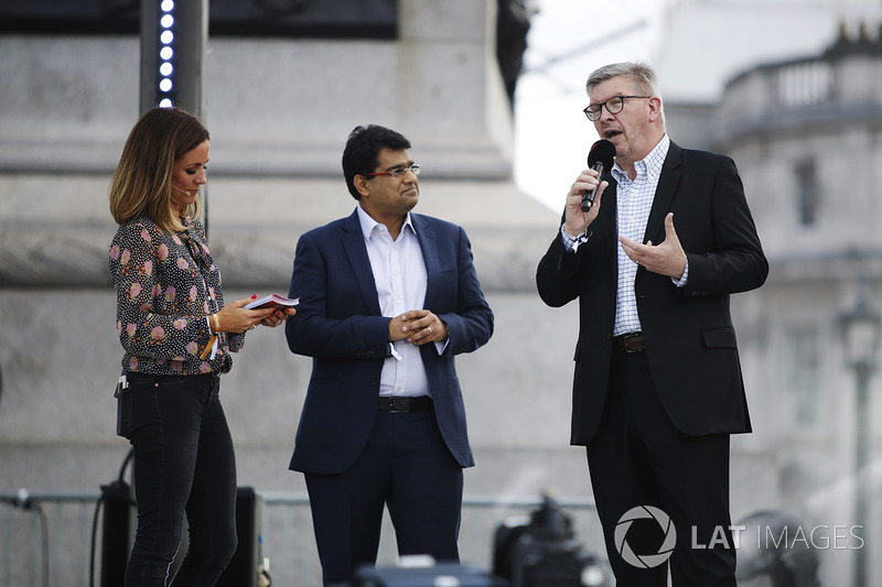 Ross Brawn, Managing Director of Motorsports, FOM, Mehul Kapadia, Vice President Global Marketing, MD and F1 Business at Tata Communications