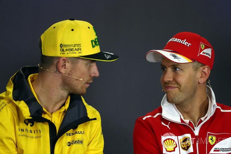 Ніко Хюлькенберг, Renault Sport F1 Team RS17, Себастьян Феттель, Ferrari