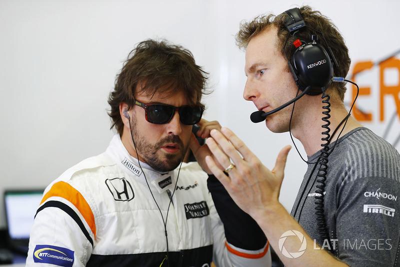 Fernando Alonso, McLaren, Mark Temple, Renningenieur, McLaren
