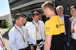 Chase Carey, Chief Executive Officer and Executive Chairman of the Formula One Group, Dmitry Kozak, Deputy Prime Minister of the Russian Federation, Veniamin Kondrytyev, Governor of Krasnodar Region, Sergey Sirotkin, Renault Sport F1 Team Test Driver