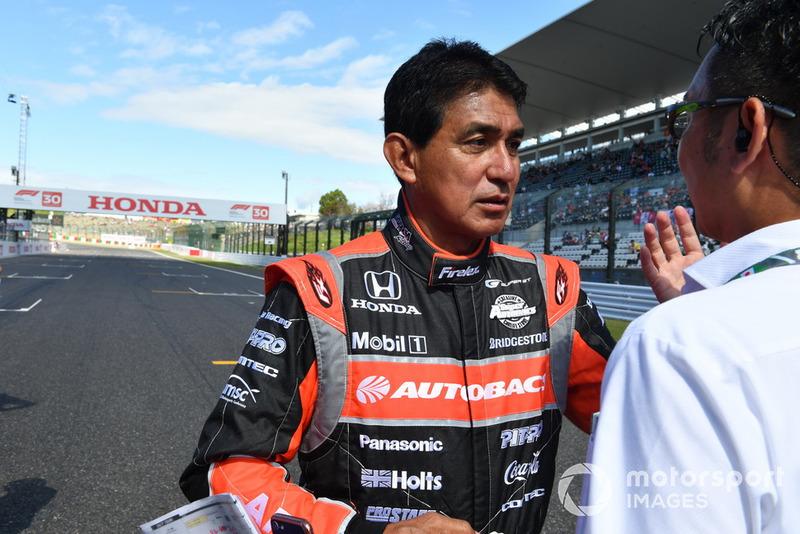 Aguri Suzuki lors des Legends F1 30th Anniversary Lap Demonstration