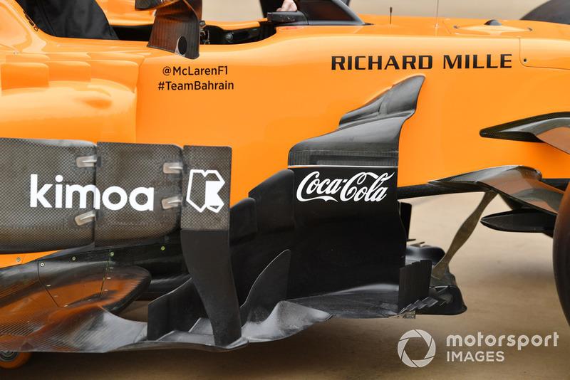 McLaren MCL33 bargeboardları