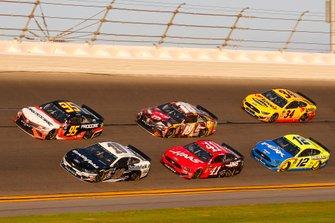 Aric Almirola, Stewart-Haas Racing, Ford Mustang Smithfield, Matt DiBenedetto, Leavine Family Racing, Toyota Camry Procore