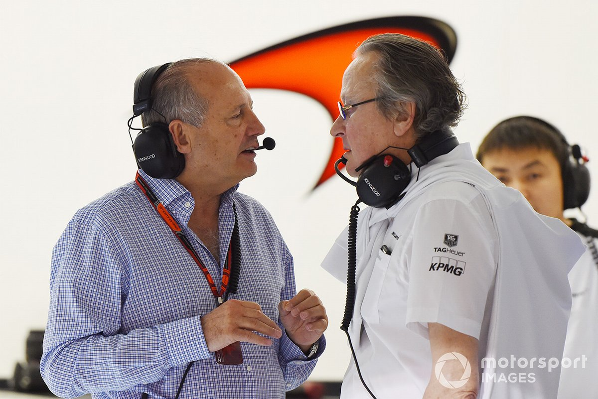 Mansour Ojjeh, TAG and Ron Dennis, McLaren Executive Chairman