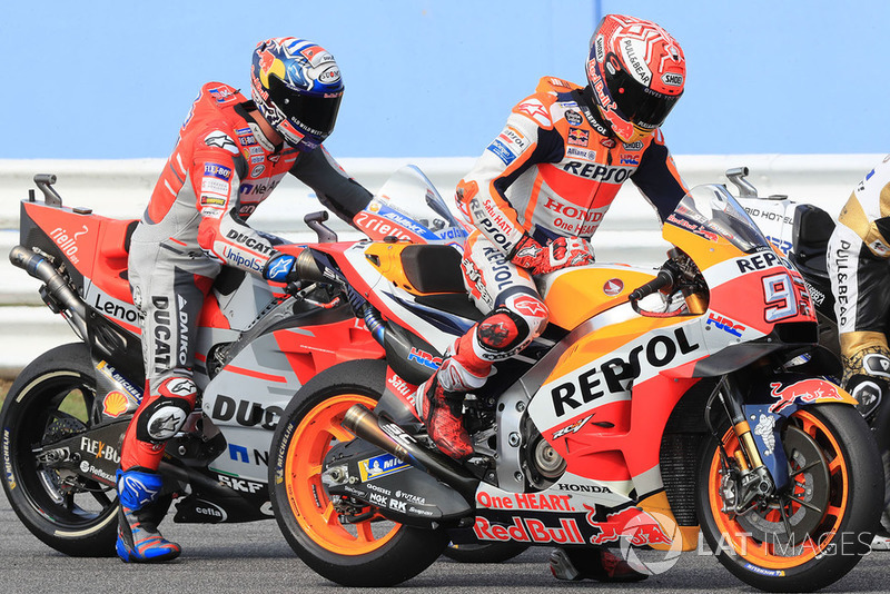 Марк Маркес Repsol Honda Team, Андреа Довіціозо, Ducati Team