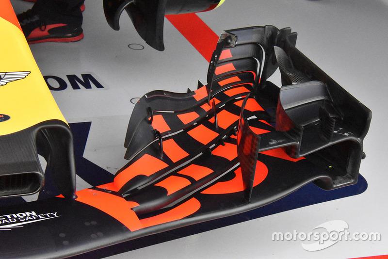 Red Bull Racing RB14 detalle del ala frontal