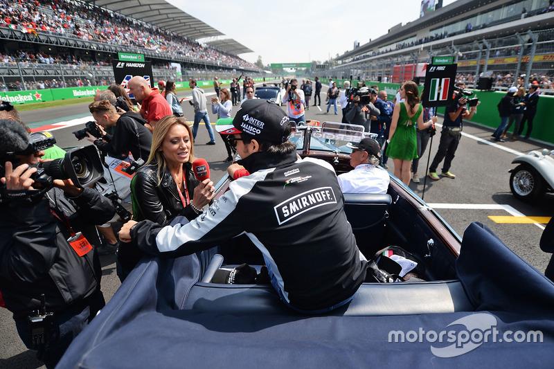Fahrerparade: Sergio Perez, Sahara Force India F1