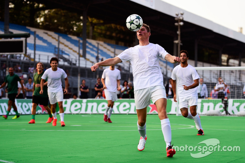 Max Verstappen, Red Bull Racing at the charity 5-a-side football match