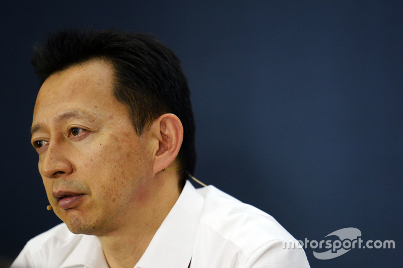 Yusuke Hasegawa, Head of Honda F1 Programme in the press conference