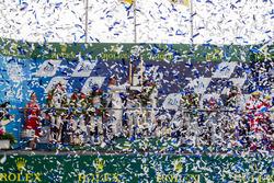 LMP1 podium: class and overal winners #2 Porsche Team Porsche 919 Hybrid: Romain Dumas, Neel Jani, Marc Lieb, second place #6 Toyota Racing Toyota TS050 Hybrid: Stéphane Sarrazin, Mike Conway, Kamui Kobayashi, third place #8 Audi Sport Team Joest Audi R18: Lucas di Grassi, Loic Duval, Oliver Jarvis, privateer award winners #12 Rebellion Racing Rebellion R-One AER: Nicolas Prost, Nick Heidfeld, Nelson Piquet Jr.
