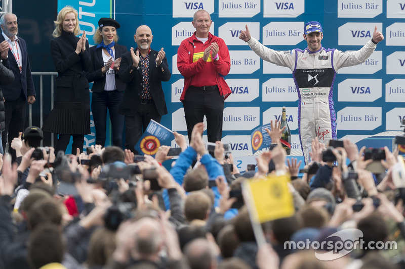 Podium: second place Jean-Eric Vergne, DS Virgin Racing