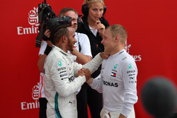 Winnaar Lewis Hamilton en Valtteri Bottas, Mercedes-AMG F1