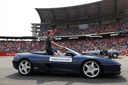 Romain Grosjean, Haas F1 Team, at drivers parade