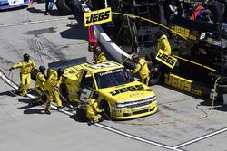 Cody Coughlin, GMS Racing, Chevrolet Silverado Jeg's.com , makes a pit stop