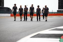 Kevin Magnussen, Haas F1 Team, walks the track