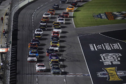 Cole Custer, Stewart-Haas Racing Ford, Erik Jones, Joe Gibbs Racing Toyota, start