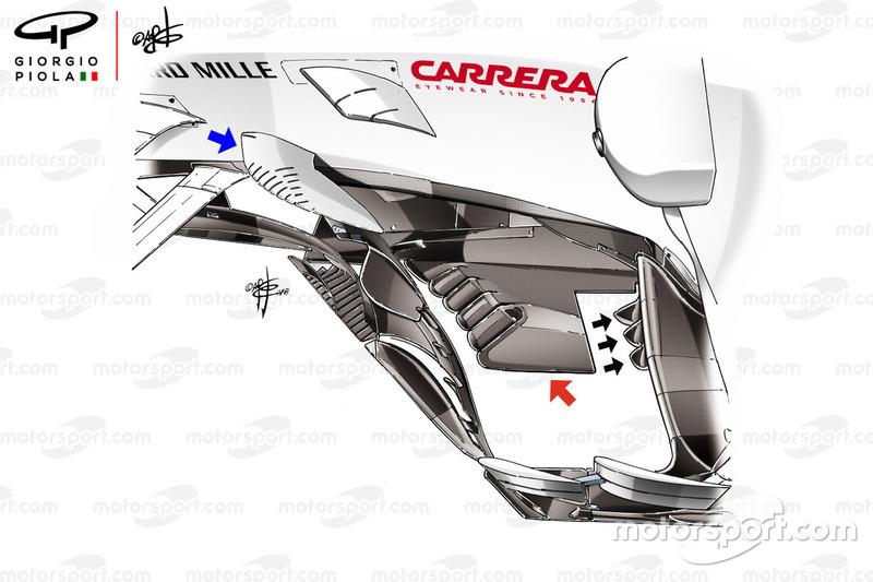 Sauber C37: Bargeboards