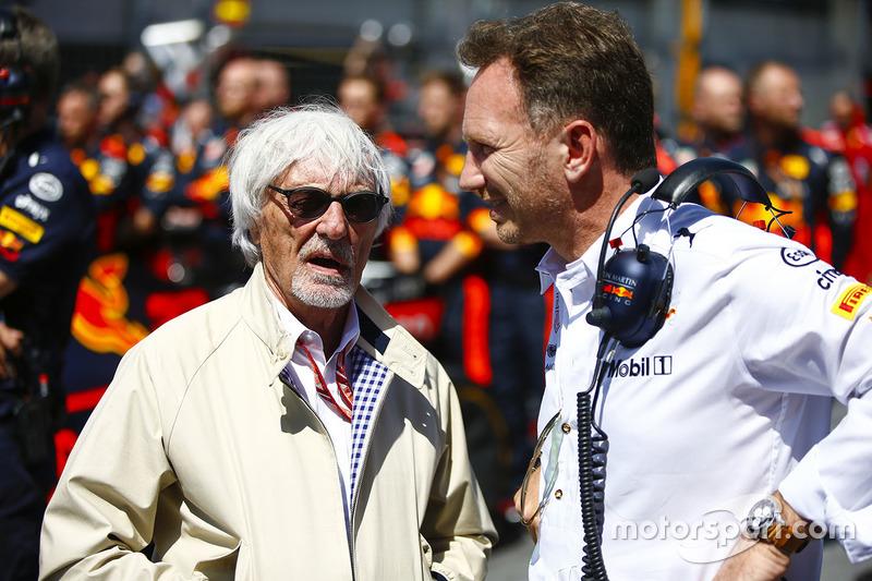 Bernie Ecclestone et Christian Horner, directeur de Red Bull Racing