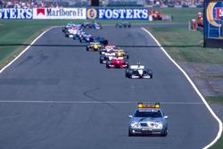 Safety-Car-Phase beim GP Großbritannien 1999 in Silverstone