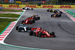 Sebastian Vettel, Ferrari SF71H, Valtteri Bottas, Mercedes AMG F1 W09, Kimi Raikkonen, Ferrari SF71H, Max Verstappen, Red Bull Racing RB14, Daniel Ricciardo, Red Bull Racing RB14