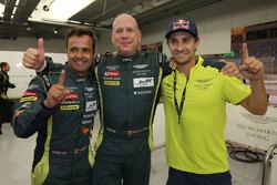 LMGTE AM pole sitters Paul Dalla Lana, Pedro Lamy, Mathias Lauda, Aston Martin Racing