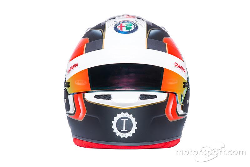 Helmet of Charles Leclerc, Sauber