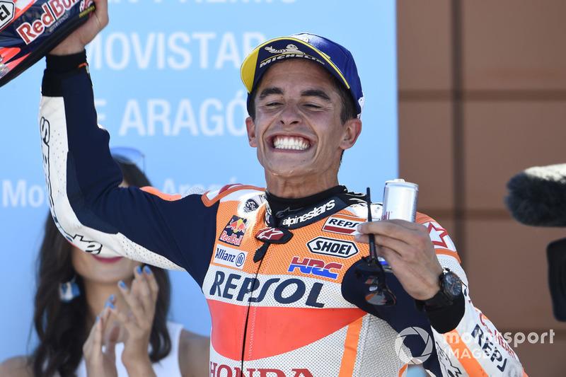 Podio: ganador de la carrera Marc Márquez, Repsol Honda Team